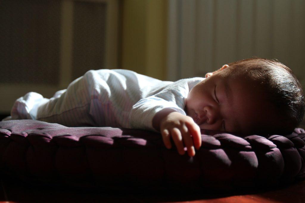 Sleeping Baby activities, tummy time